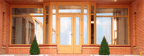 Plastic entrance doors