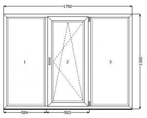 трехстворчатое окно купить