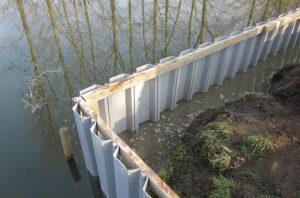 шпунт ПВХ для захисту території від затоплення