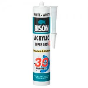 BISON ACRYLIC 30 MIN WHITE - быстросохнущий акриловый герметик (белый)